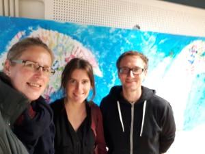 Das saarländische UNESCO Team in Bad Damp: Frau Messinger (IGI), Frau Schu (Freie Waldorfschule Bexbach) und Herr Bogendörfer (TWG Dillingen)